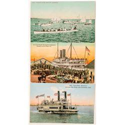San Diego, CA Boat Postcards  #102365