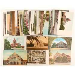 Stanford, CA Chapels thru History Postcards  #90765