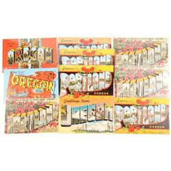 Oregon Large Letter Postcards  #103264