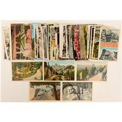 Mt. Rushmore/Needles/ Badlands. SD postcards  #102714