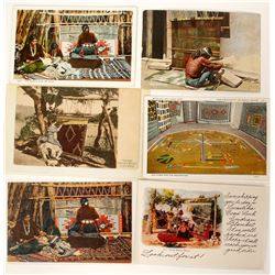 Indian Weaver Postcards (6)   #91164