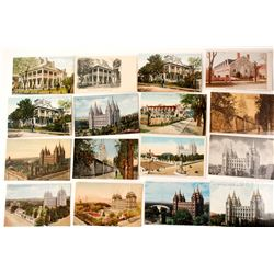 Utah Postcards: Mormon Temple, Tabernacle, & Other Structures  #55434