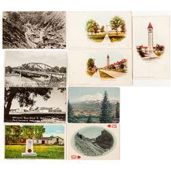 Ft. Sheridan, Ft. Bridget and western Postcards  #571605