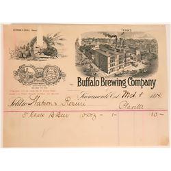 Buffalo Brewing Company BH, Sacramento, 1894  #110052