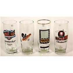 Beer Glasses / German & American / 4 items.  #89529