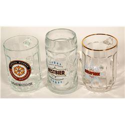 Beer Steins / German / 3 Items.  #89532