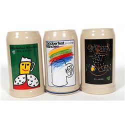 Beer Steins / German / 3 Items.  #89561