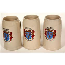 Beers Steins / German / 3 items  #89522