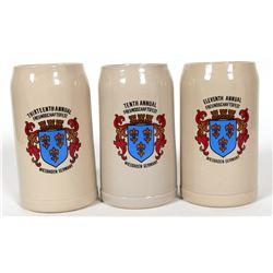 Beer Steins / German / 3 Items.  #89559