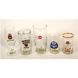Beer Glasses / Germany / 5 Items.  #89534