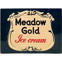 Meadow Gold Ice Cream Embossed Metal Sign  #110291