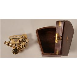 Brass Sextant, 3-inch Working Reproduction  #110631