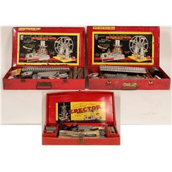 3 Erector Sets, Two #8 1/2 and One #7 1/2 In Cases  #110273