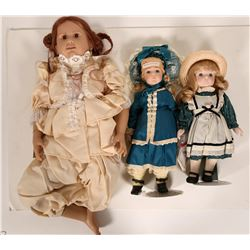 Three dolls; a Hamilton Collection Nicole doll  #109884