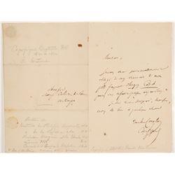 Jean-Baptiste Honoré Raymond Capefigue Signed Letter  #106484