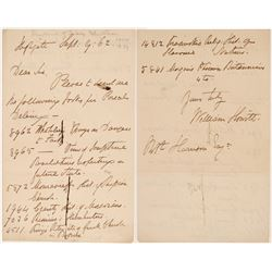 William Howitt Signed Letter  #106483