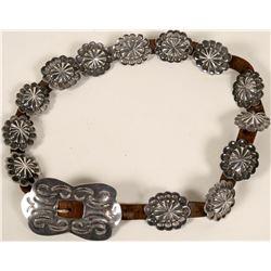 Silver Concha Belt  #109102