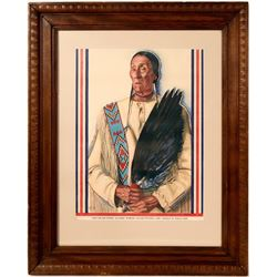 Blackfoot Warrior Print by Weiss  #110723