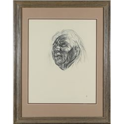 Framed Native American Elder Print by Caples  #87618