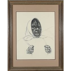 Framed Native American Woman Print  #87660