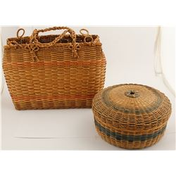 Two Colored Northeastern Basket Duo  #56802