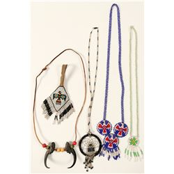 Native American necklaces/   5 Vintage Items  #100716