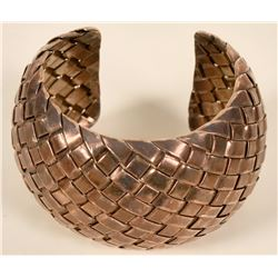 Woven Silver Cuff Bracelet  #109101