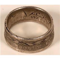 Morgan Silver Dollar Ring  #109109