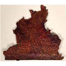 Copper Smelter Splash Specimen, 2.5 pounds  #109474