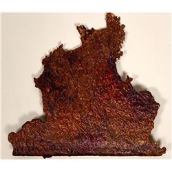 Copper Smelter Splash Specimen, 2.5 pounds  #109474