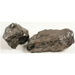 Anthracite Coal and Sulfur Specimens  #80832