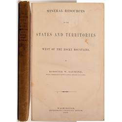 Nineral Resources of the States West of the Rockies by Raymond  #104596
