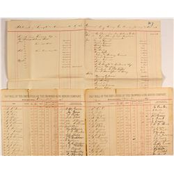 Crowned King Mining Company Payroll & Other Documents  #59123