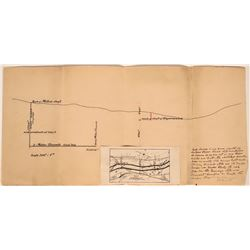 Handdrawn Map of Shasta County Mines- Midas and Esperanza  #110032