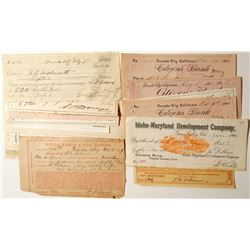 Nevada County, CA Check Collection  #83225