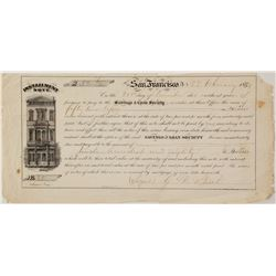San Francisco Savings and Loan 1859 Installment Note  #57405