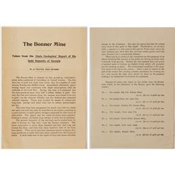 Bonner Mine Report by W. S. Yeates  #57074