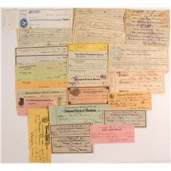 Checks and Receipts 1905-1963 Butte, Montana  #50347