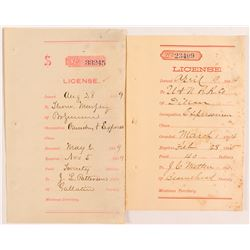 License Receipts for Expressmen Occupation, Montana 1884  #50631