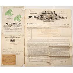 Montana Mining & Insurance Ephemera  #77503