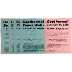 Broadsides for Nevada Geothermal Power Wells  #107341