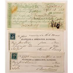 Comstock Territorial Checks & a Wells Fargo COD  #67013