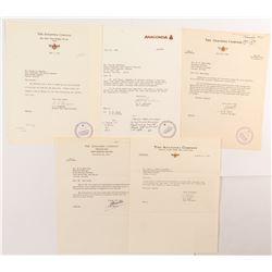 Anaconda Company Letters (5 count)  #50328