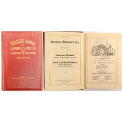 Walker's Manual of California Securities and Directory of Directors 1924  #52237