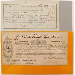 Nevada Bank of San Francisco Exchange & Promissory Note  #68001