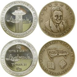 Wilbur Clark / Landmark Tower Silver Rounds  #89252