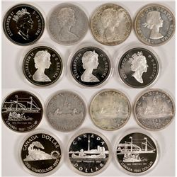 Canadian Silver Dollar Collection  #110621