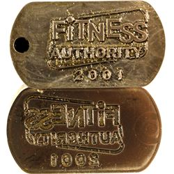 Matched Pair of Die and Stamp of Fitness Authority 2001 Company   #80026