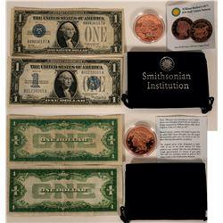 Silver Certificates and Copper $50 Half-Union Pattern  #109827