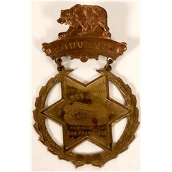 San Francisco Golden Jubilee Breast Badge, 1892  #110181